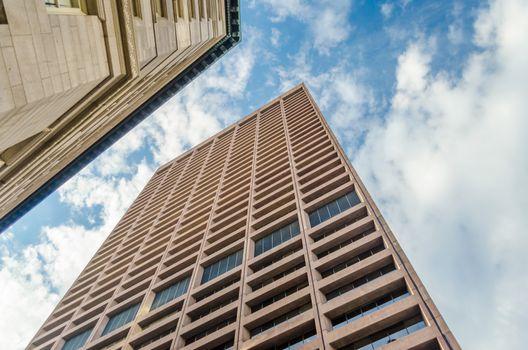 Skyscrapers, modern architecture in central Boston, USA
