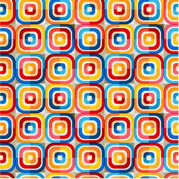 seamless glossy rounded corner square pattern
