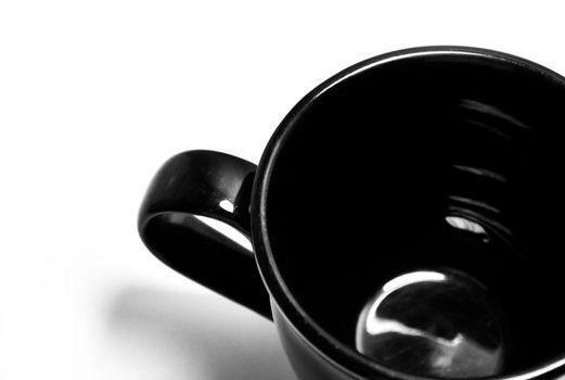 Empty black mug