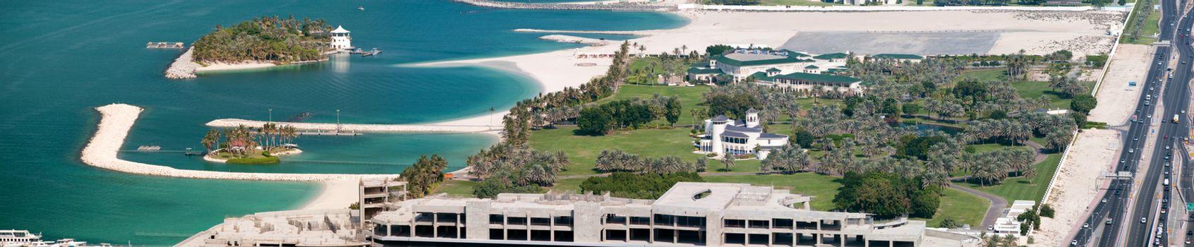 View on Beach Palace of His Highness Sheikh Mohammed Bin Rashid Al Maktoum in Dubai, United Arab Emirates