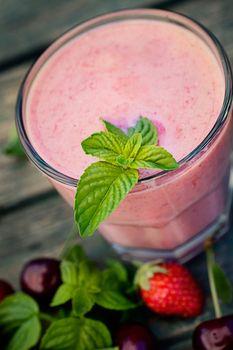 Strawberry fruit drink