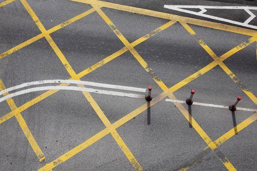 Road junction in city