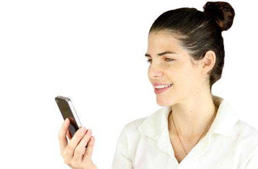 Receiving a funny text