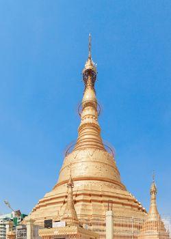 Botataung pagoda in Yangon, Burma (Myanmar)