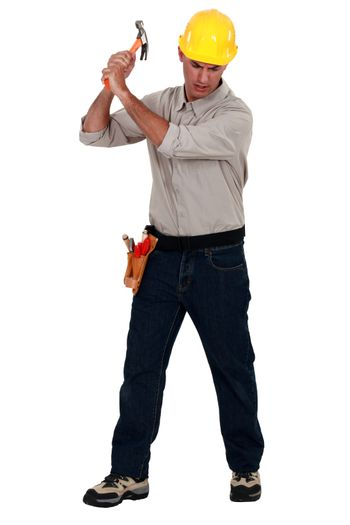 Craftsman with a hammer