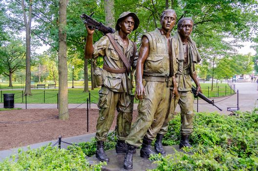 Vietnam Veterans Memorial Statue, Washington DC, USA