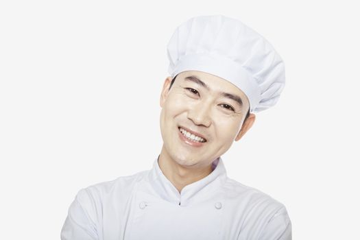 Studio Portrait of Chef, head and shoulders