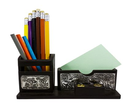 Storage for stationery placed on the table