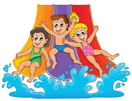 Image with aquapark theme 1 - eps10 vector illustration.