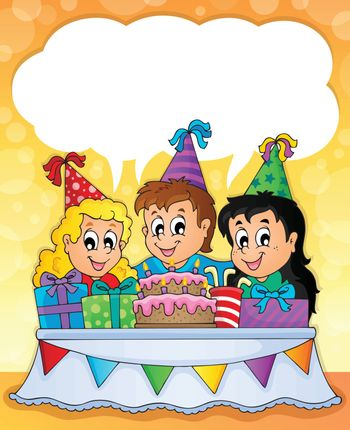 Kids party theme image 2 - eps10 vector illustration.
