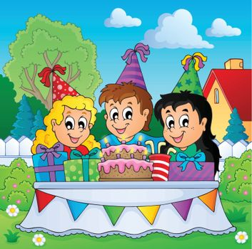 Kids party theme image 3 - eps10 vector illustration.