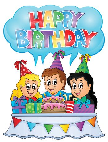Kids party theme image 7 - eps10 vector illustration.