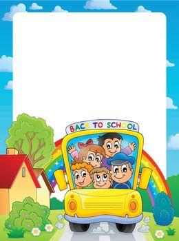 School theme frame 9 - eps10 vector illustration.