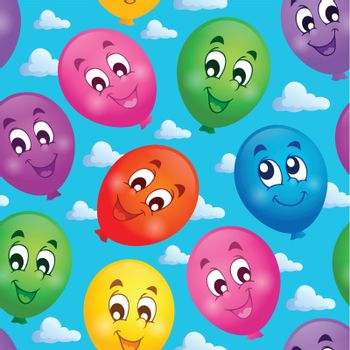 Seamless background with balloons 3 - eps10 vector illustration.