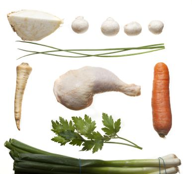 ingredients of a chicken broth