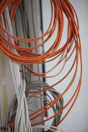 Coiled electric cable
