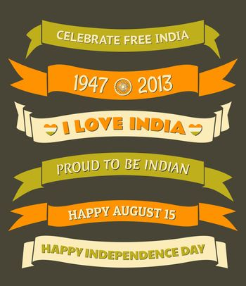 India Independence Day Banners