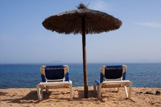 Relaxing area nearby sandy beach