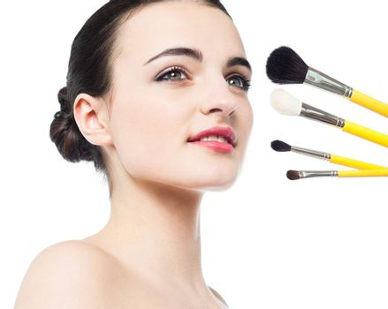 Set of brushes for a better make-over