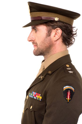 Young brave army officer