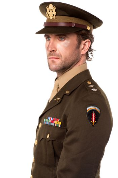 Handsome man dressed in world war II uniform