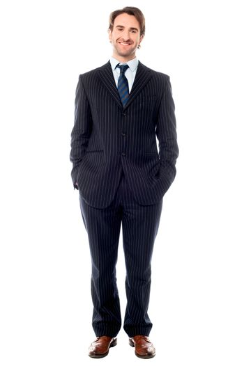 Confident young entrepreneur in formals
