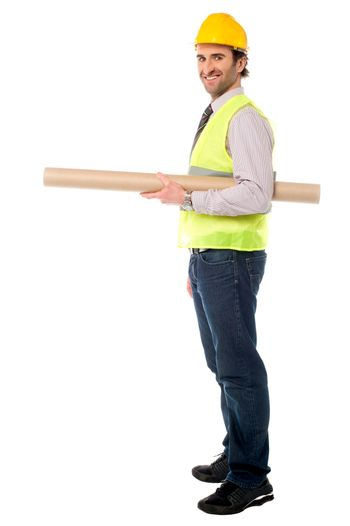Full length shot of a construction engineer