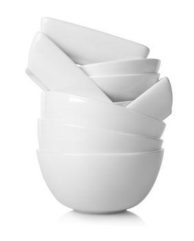 White plates isolated