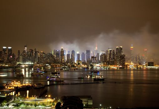 The New York City Skyline right after the July 4th firework