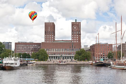 Oslo City Hall in central Oslo Norway