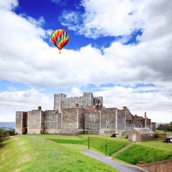 The Dover Castle in south east England UK