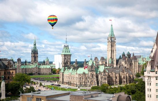 The famous Parliament Buildings in Ottawa, Canada