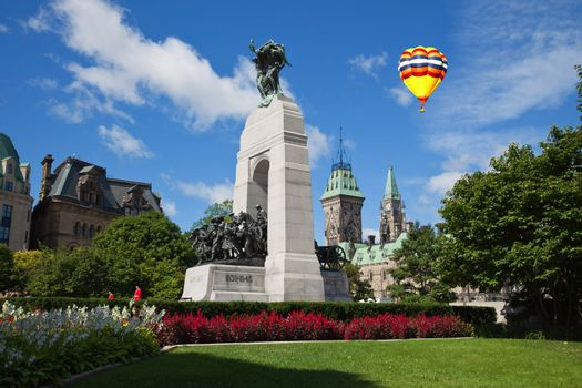 The National War Memorial in downtown Ottawa