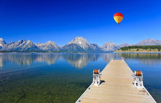 The Jackson Lake in Grand Teton National Park