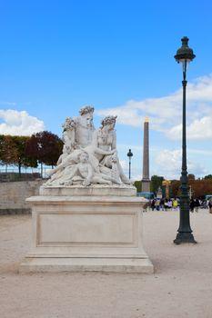 Paris - Statue from Tuileries garden near Louvre