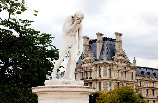 Paris - Statue from Tuileries garden near the Louvre