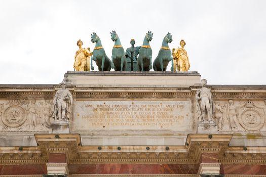 Arc de Triomphe du Carrousel in Paris, France
