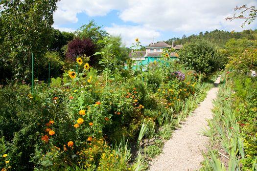 Claude Monet garden and house near Paris France