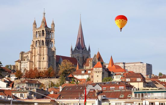 City of Lausanne in the west of Switzerland