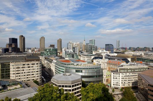 London city view from top of St. Paul Cathedral