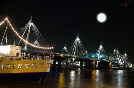 A famous bridge in london UK