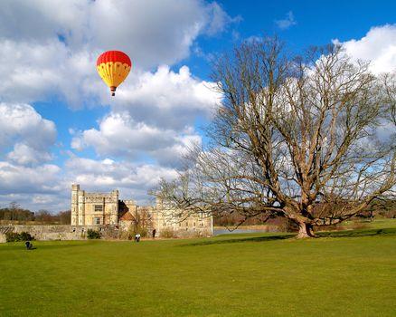 The leeds castle under sunny sky in England