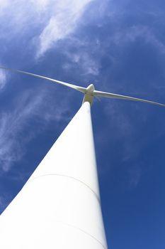 close up windmill power generator