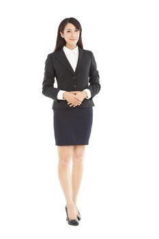 full length beautiful businesswoman standing