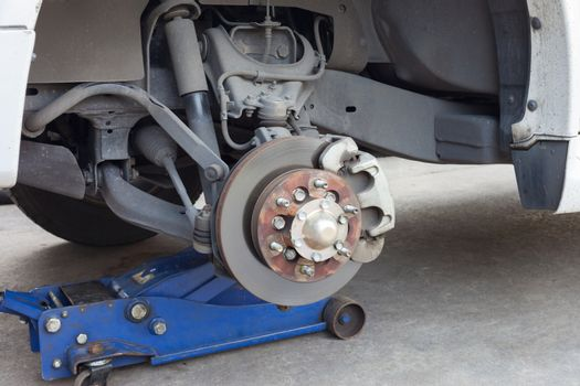 brake disk and detail of the wheel hub