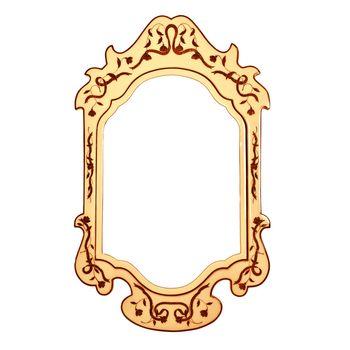 Empty vintage mirror frame