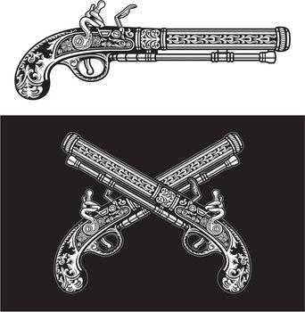 Flintlock Antique Pistol