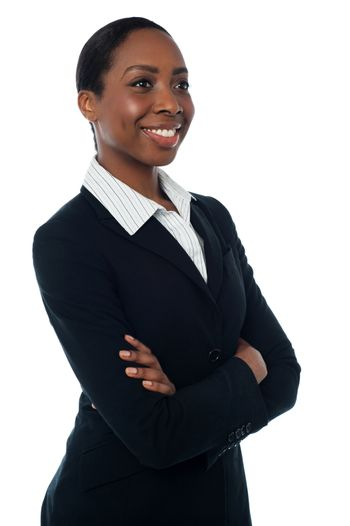 Confident female company manager