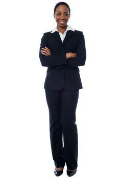 Confident african businesswoman