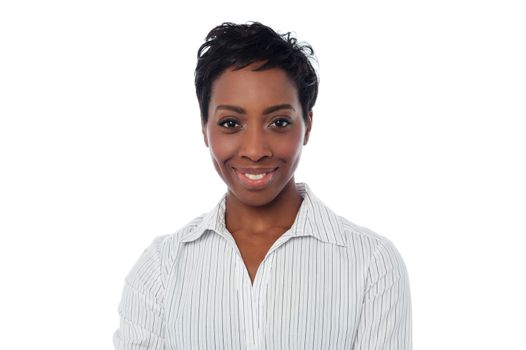 Smiling female secretary